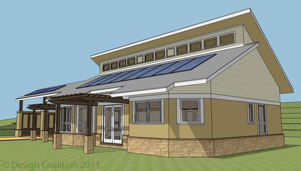 Design coalition for Modern passive solar house plans